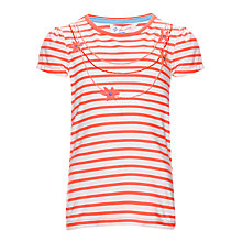 Buy John Lewis Girl Necklace T-Shirt, Red/White Online at johnlewis.com
