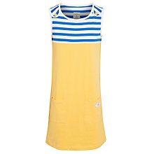 Buy Little Joule Junior Katy Jersey Dress, Yellow Online at johnlewis.com