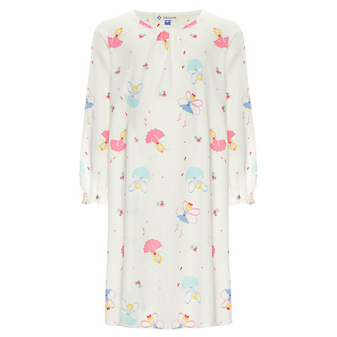 Buy John Lewis Girl Fairy Long Sleeve Nightdress, Multi Online at johnlewis.com
