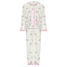 Buy John Lewis Girl Vintage Rose Pyjamas, Cream Online at johnlewis.com