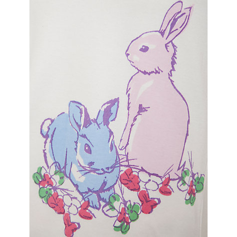Buy John Lewis Girl Bunny Pyjamas, Pack of 2, Blue/Pink Online at johnlewis.com