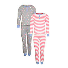 Buy John Lewis Girl Skinny Fit Pyjamas, Pack of 2, Multi Online at johnlewis.com