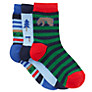 John Lewis Boy Bear Socks, Pack of 3, Multi