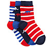 John Lewis Boy Dinosaur Socks, Pack of 3, Multi