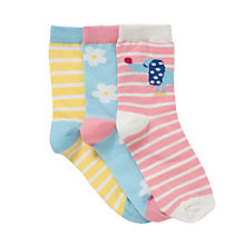 Buy John Lewis Girl Sausage Dog Socks, Pack of 3, Multi Online at johnlewis.com