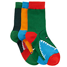 Buy John Lewis Boy Snake and Crocodile Socks, Pack of 3, Multi Online at johnlewis.com