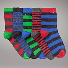 Buy John Lewis Boy Neppy Striped Socks, Pack of 5, Multi Online at johnlewis.com