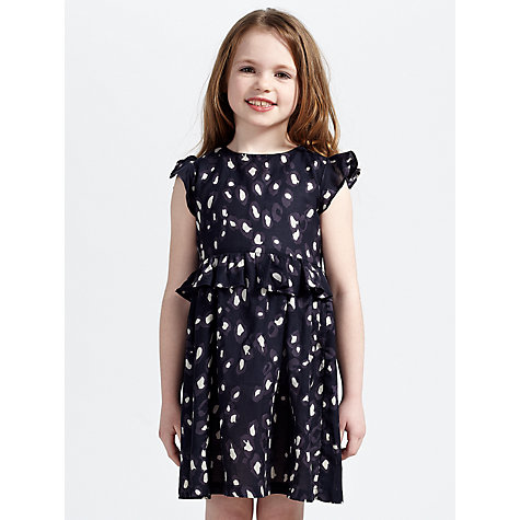Buy John Lewis Girl Animal Print Dress, Black Online at johnlewis.com