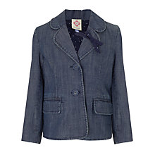 Buy John Lewis Girl Denim Blazer, Blue Online at johnlewis.com