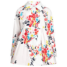 Buy John Lewis Girl Floral Mac, Cream/Multi Online at johnlewis.com