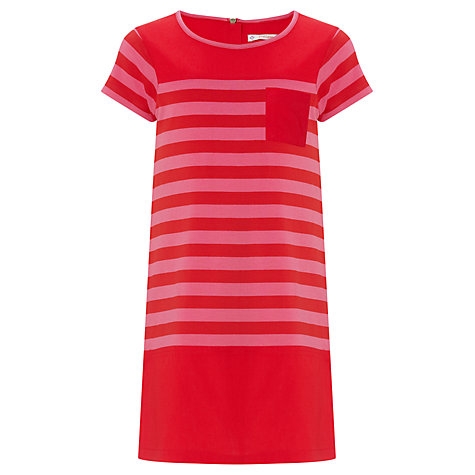 Buy John Lewis Girl Striped Dress, Red/Pink Online at johnlewis.com