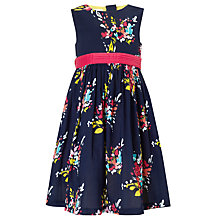Buy John Lewis Girl Floral Prom Dress, Navy Online at johnlewis.com