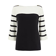 Buy Mint Velvet Striped Jumper, Navy/Ivory Online at johnlewis.com
