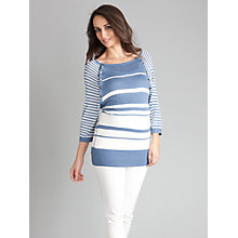 Buy Seraphine Nessa Stripe Jumper, Blue/white Online at johnlewis.com