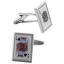 Buy John Lewis King Playing Card Cufflinks Online at johnlewis.com