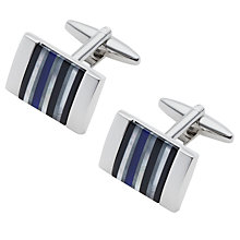 Buy John Lewis Stripe Onyx Hematite Mother of Pearl Cufflinks Online at johnlewis.com