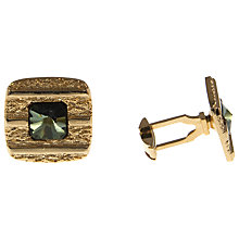 Buy Eclectica Vintage Gold Plated Square Glass Cufflinks Online at johnlewis.com