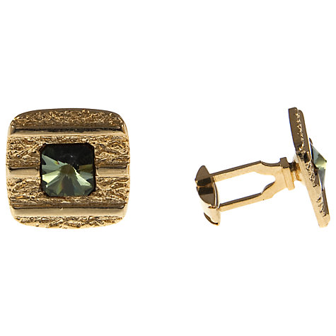 Buy Eclectica Gold Plated Square Glass Cufflinks Online at johnlewis.com