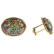 Buy Eclectica Gold Plated Red Speckled Glass Cufflinks Online at johnlewis.com