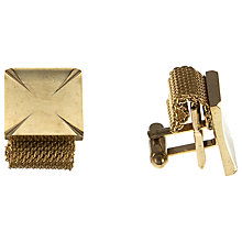 Buy Eclectica Gold Plated Mesh and Bar Cufflinks Online at johnlewis.com