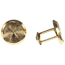 Buy Eclectica Round Gold Cuff with Bar Closure Cufflinks Online at johnlewis.com