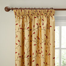 Buy John Lewis Eden Leaf Pencil Pleat Lined Curtains Online at johnlewis.com