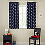 Buy John Lewis Glow in the Dark Star Pencil Pleat Blackout Lined Curtains, Navy Online at johnlewis.com