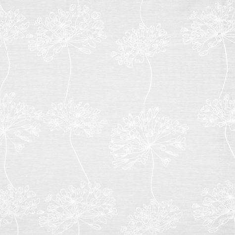 Buy John Lewis Whisper Allium Voile Panel, White Online at johnlewis.com