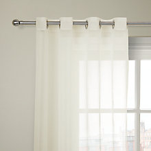 Buy John Lewis Silver Base Stripe Voile Panel, Silver/White Online at johnlewis.com