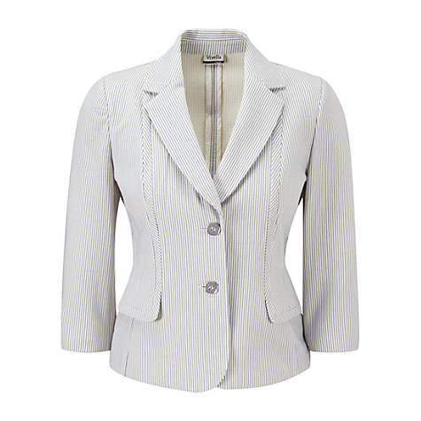 Buy Viyella Petite Striped Jacket, Dove Online at johnlewis.com