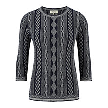Buy Viyella Cable Jumper, Indigo Online at johnlewis.com