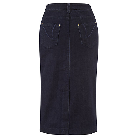 Buy Viyella Denim Pencil Skirt, Indigo Online at johnlewis.com