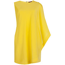 Buy Ted Baker Bolty One Sided Draped Tunic, Bright Yellow Online at johnlewis.com