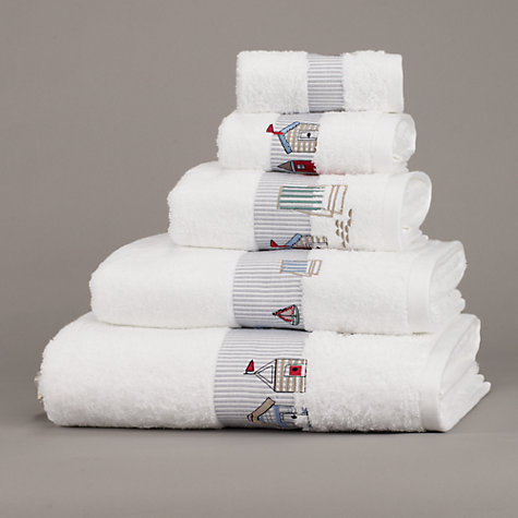 Buy John Lewis New Coastal Seaside Towels, White Online at johnlewis.com