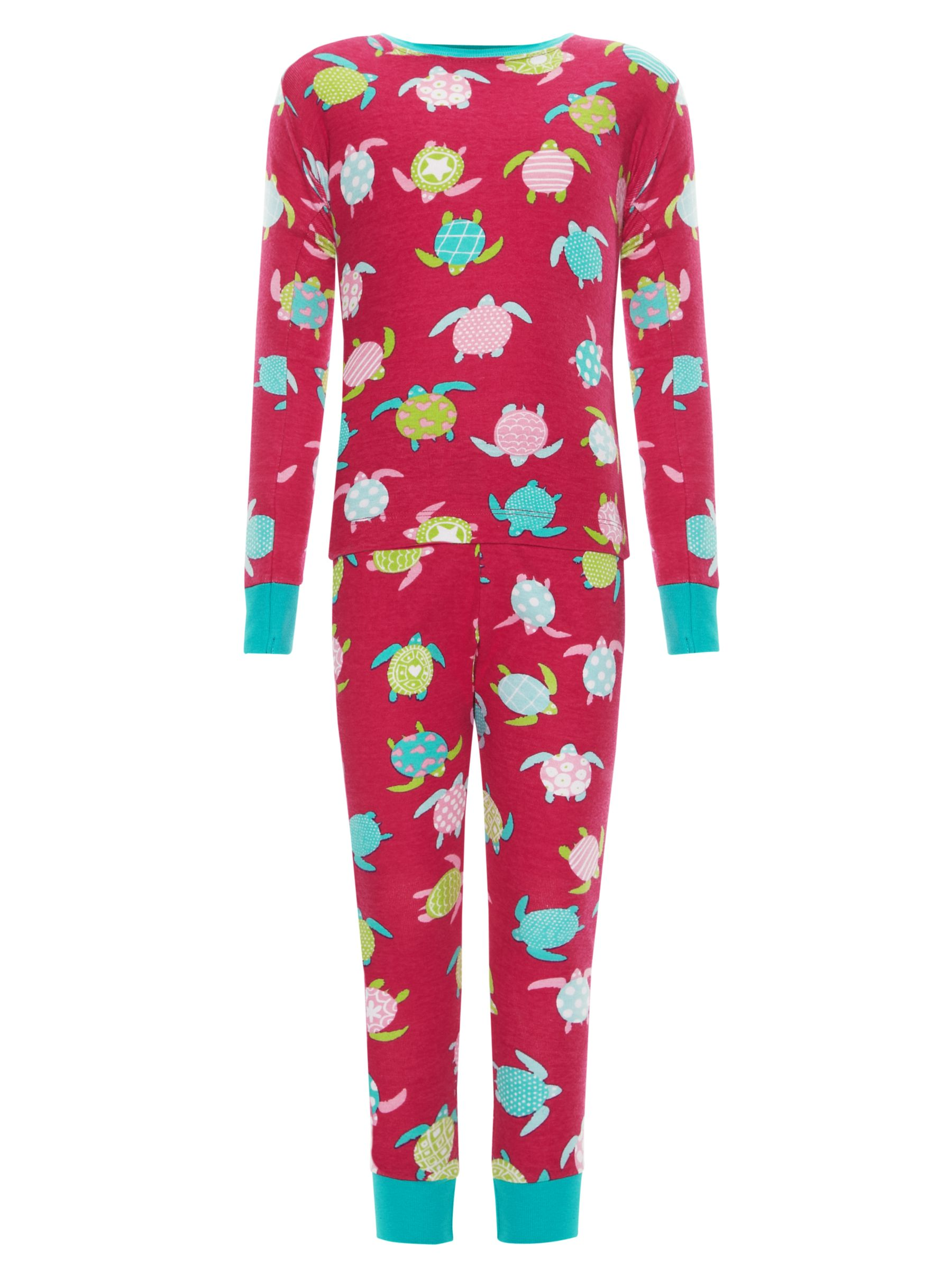 Hatley Sea Turtles Pyjamas, Pink