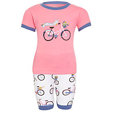 Buy Hatley Bikes Shortie Pyjamas, Pink Online at johnlewis.com