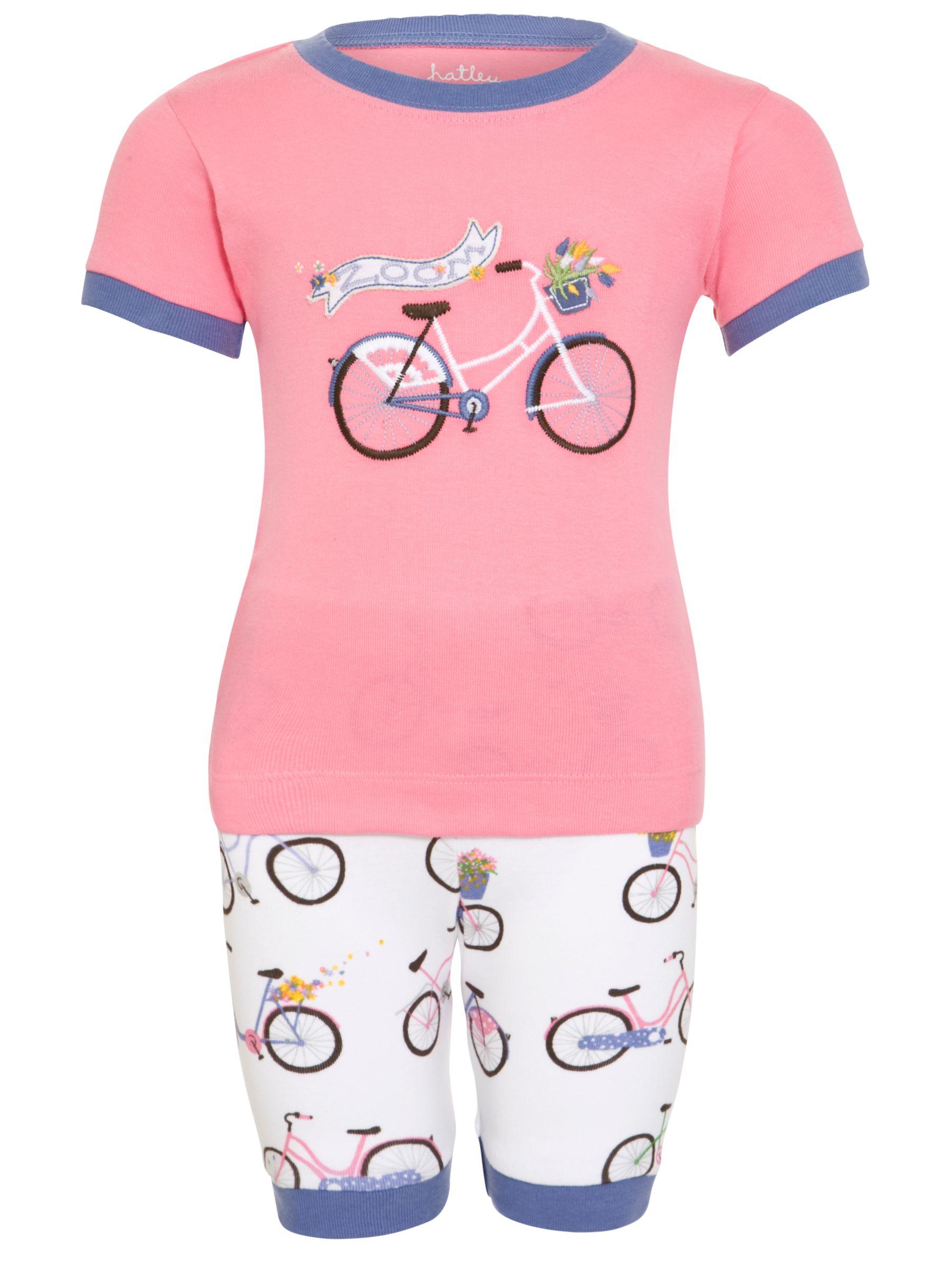 Hatley Bikes Shortie Pyjamas, Pink