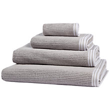 Buy John Lewis Croft Collection Stripe Hem Detail Towels Online at johnlewis.com