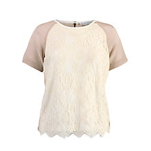 Buy Paul & Joe Sister Arsenic Lace Front Top, Nude Online at johnlewis.com
