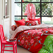 Buy PiP Studio Morning Glory Duvet Cover Set, Red Online at johnlewis.com