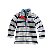 Buy Little Joule Captain Striped Long Sleeved Jumper, Grey/Blue Online at johnlewis.com