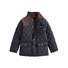 Buy Little Joule Milford Quilted Jacket, Navy Online at johnlewis.com