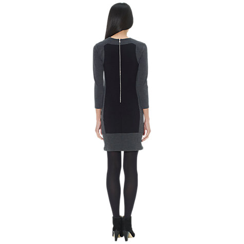 Buy Whistles Colour Block Bodycon Dress, Black Multi Online at johnlewis.com