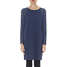Buy Whistles Contrast Sleeve Dress, Blue Multi Online at johnlewis.com