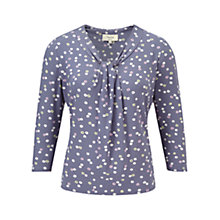 Buy Viyella Petite Pinwheel Print Top, Dove Online at johnlewis.com