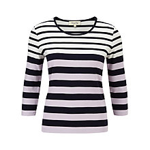 Buy Viyella Petite Graduated Stripe Top, Indigo Online at johnlewis.com