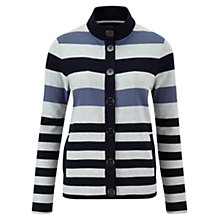 Buy Viyella Petite Jersey Stripe Jacket, Dove Online at johnlewis.com