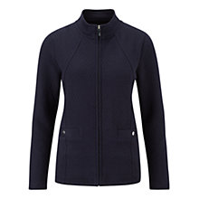 Buy Viyella Petite Quilted Jersey Jacket, Indigo Online at johnlewis.com