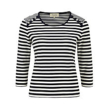 Buy Viyella Fine Stripe Top, Indigo/Ivory Online at johnlewis.com