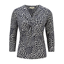 Buy Viyella Petite Rope Print Top, Indigo/Ivory Online at johnlewis.com